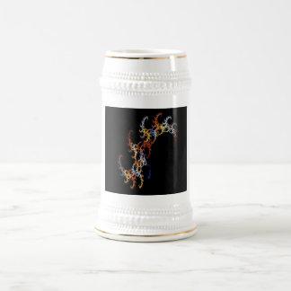 Fractal multicolor jarra de cerveza