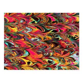 Fractal multicolor. Modelo del loro. Art. abstract Tarjeta Postal