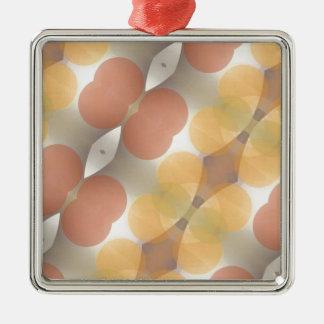 Fractal multicolor, Multi-formado dimensional Adorno Navideño Cuadrado De Metal