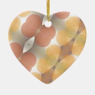 Fractal multicolor, Multi-formado dimensional Adorno Navideño De Cerámica En Forma De Corazón