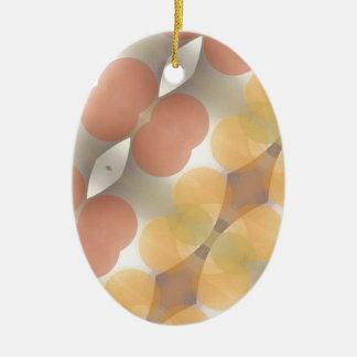 Fractal multicolor, Multi-formado dimensional Adorno Navideño Ovalado De Cerámica