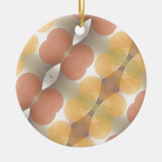 Fractal multicolor, Multi-formado dimensional Adorno Navideño Redondo De Cerámica