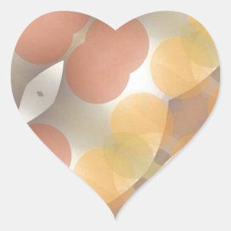 Fractal multicolor, Multi-formado dimensional Pegatina En Forma De Corazón