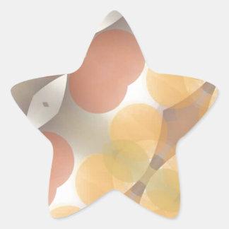 Fractal multicolor, Multi-formado dimensional Pegatina En Forma De Estrella