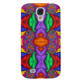 Fractal multicolor pern carcasa para galaxy s4