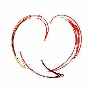 Fractal - My Heart Photo Sculpture Button