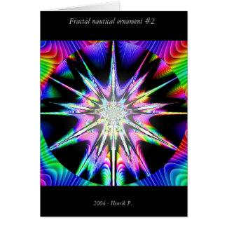 Fractal nautical ornament #2 card