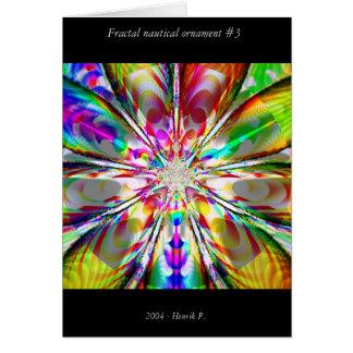 Fractal nautical ornament #3 card
