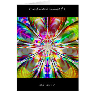 Fractal nautical ornament #3 greeting cards