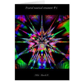 Fractal nautical ornament #4 card