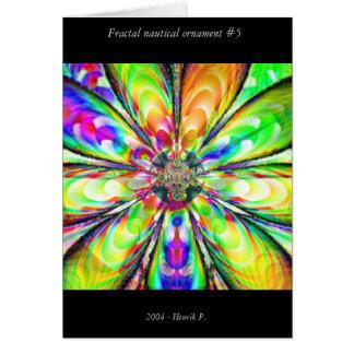 Fractal nautical ornament #5 card