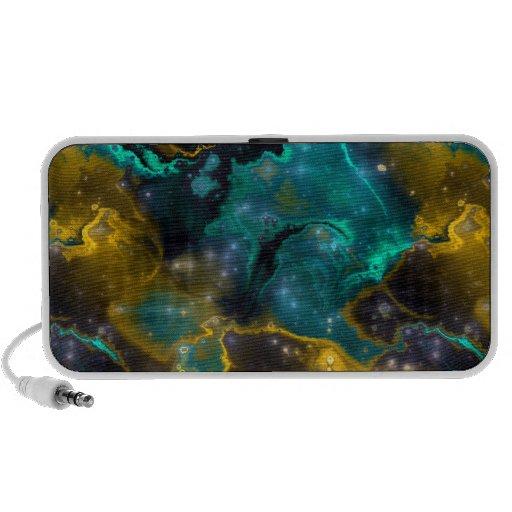 Fractal Nebula 4 Doodle Notebook Speakers
