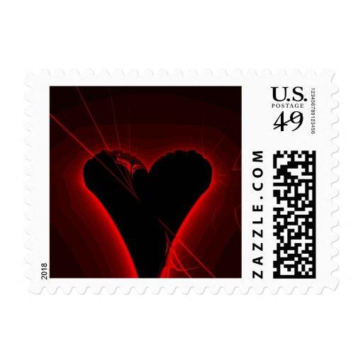 Fractal negro del corazón envio