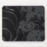 Fractal negro y gris elegante tapetes de ratones