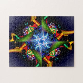 Fractal Neon Glow Puzzle