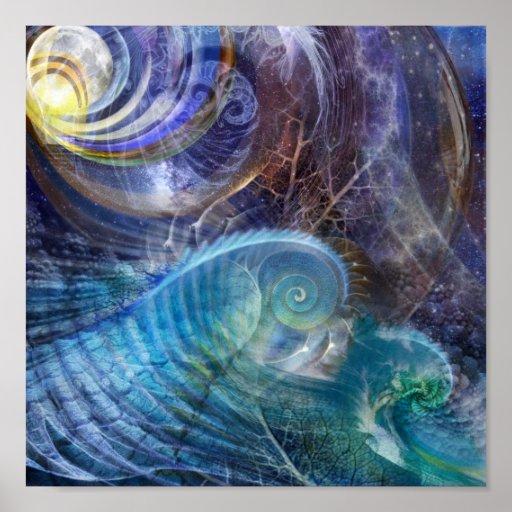 Fractal Ocean Posters