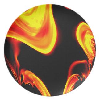 Fractal of Flame Design Dinner Plate