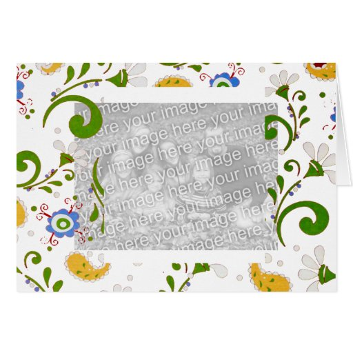 Fractal of flowers - Customize Greeting Card