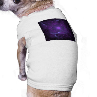Fractal of Hope in Purple Dog T-shirt