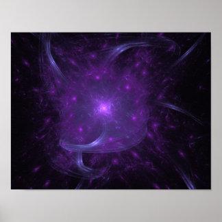 Fractal of Hope in Purple Poster
