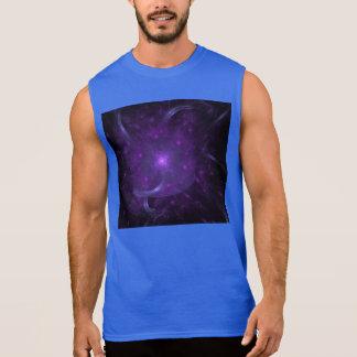 Fractal of Hope in Purple Sleeveless Shirt
