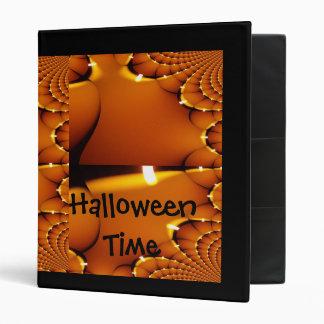 Fractal of Lit Pumpkin-Unique halloween image 3 Ring Binder