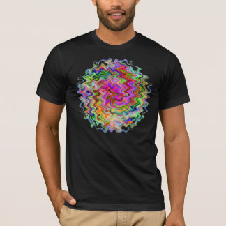 Fractal Om Wave and Flame T-Shirt