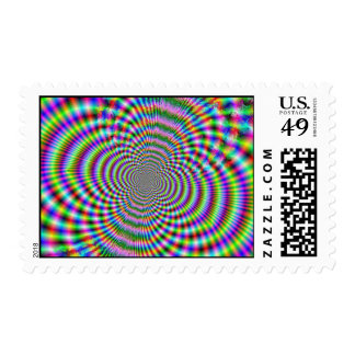 Fractal Optical Illusion 2 Postage