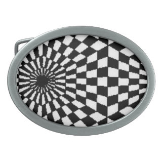 Fractal Optical Illusion Belt Buckle