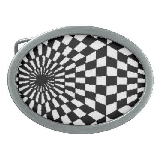 Fractal Optical Illusion Belt Buckle