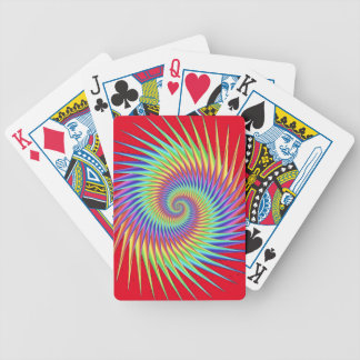 Fractal Optical Illusion Dizzy Rainbow Abstract Bicycle Playing Cards