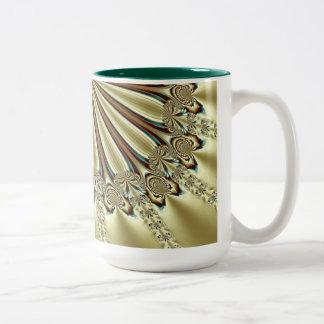 Fractal opulento de la celebración taza de dos tonos