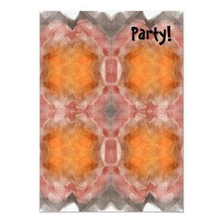 Fractal Orange 5x7 Paper Invitation Card