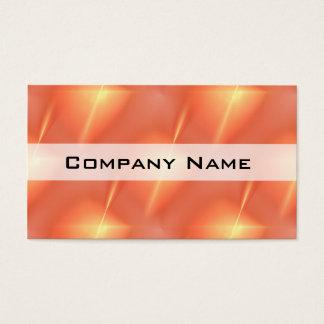 Fractal Orange Star Business Card