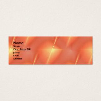 Fractal Orange Star Mini Business Card