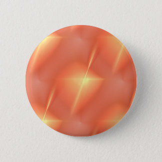 Fractal Orange Star Pinback Button