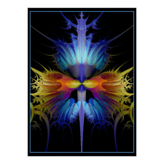 Fractal orchid for the gods poster
