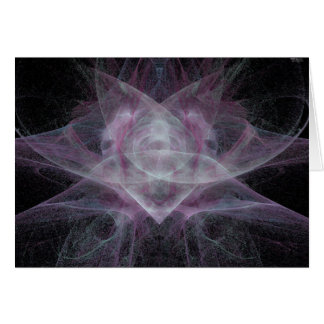 Fractal Orchid notecard Greeting Card