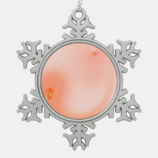 Fractal Snowflake Pewter Christmas Ornament