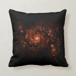 Fractal oscuro de la galaxia cojín decorativo