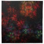 Fractal oscuro del jardín servilleta imprimida