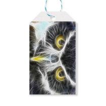 fractal owl design gift tags