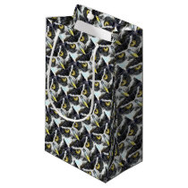 fractal owl design small gift bag
