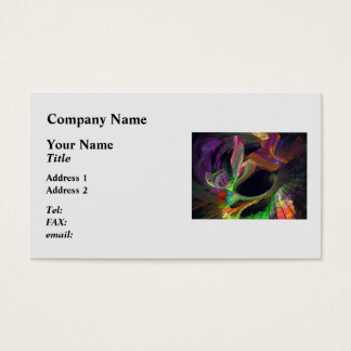 Fractal - Owl Swooping Business Card