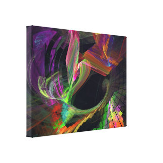 Fractal - Owl Swooping Canvas Print