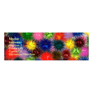 Fractal Paintballs Business Card Pack Of Skinny Business Cards