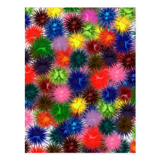 Fractal Paintballs Postcard