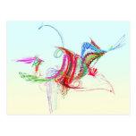 Fractal - pájaro de vuelo postal