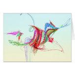 Fractal - pájaro de vuelo tarjeton