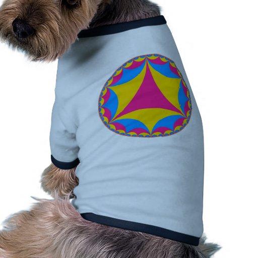 Fractal Pansexual de la bandera Camiseta Con Mangas Para Perro